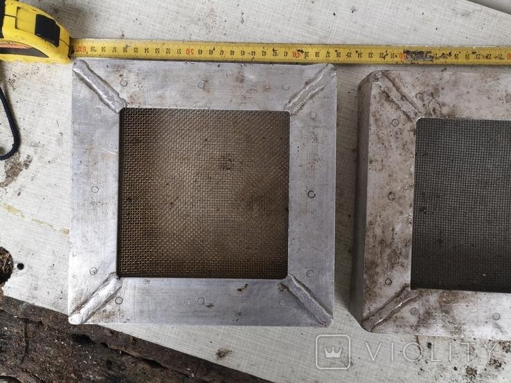 Решетки металлические алюминиевые сетка для вытяжки 2 шт, фото №4