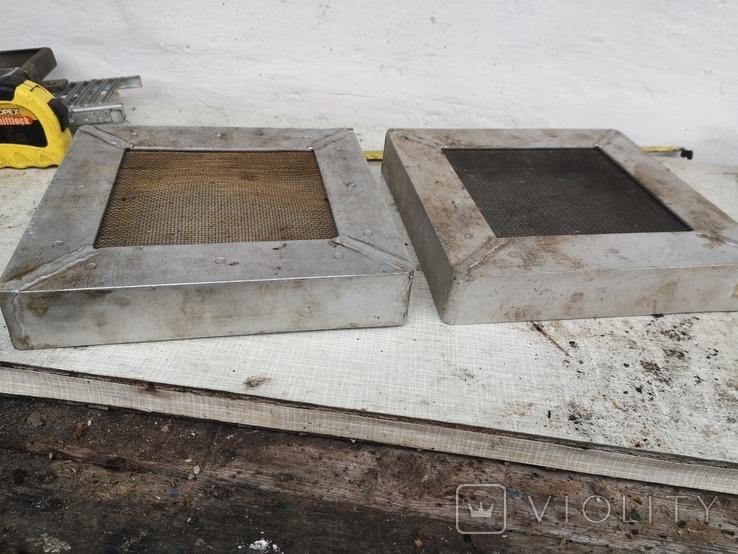 Решетки металлические алюминиевые сетка для вытяжки 2 шт, фото №2