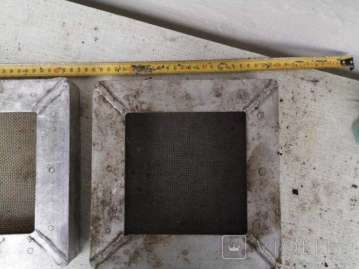 Решетки металлические алюминиевые сетка для вытяжки 2 шт, фото №8