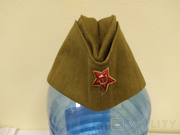 Пилотка времен СССР со звездой. 56рр, фото №3