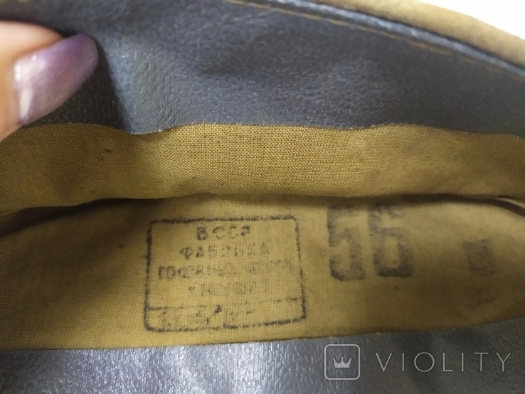 Пилотка времен СССР со звездой. 56рр, фото №8