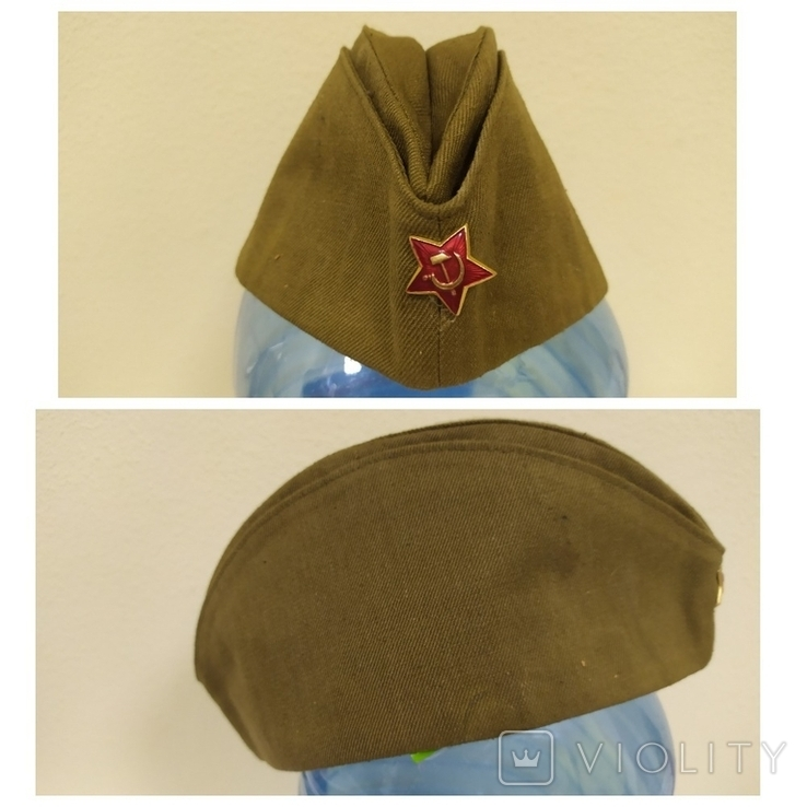 Пилотка времен СССР со звездой. 56рр, фото №2