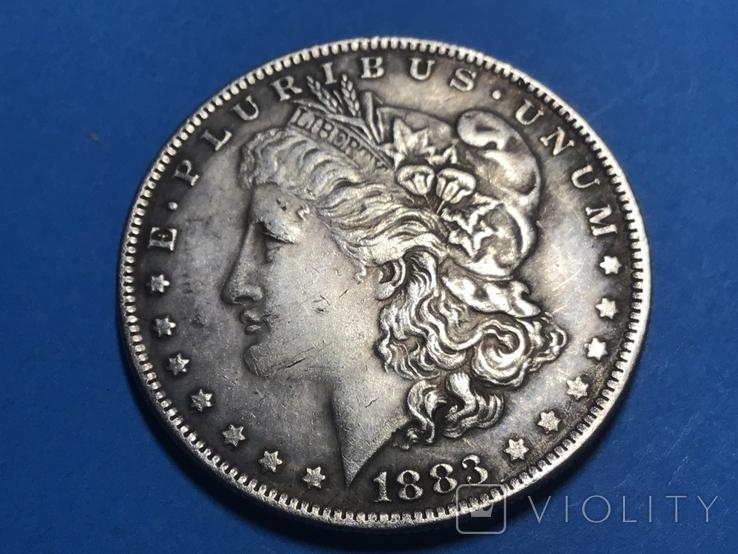 1 доллар сша 1883 СС. Копия, фото №2