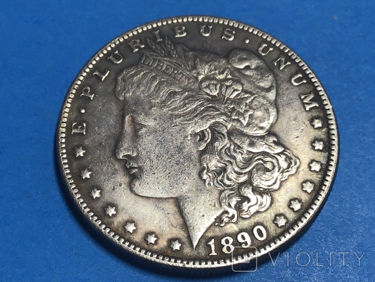 1 доллар сша 1890 СС. Копия, фото №2