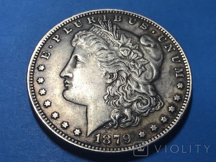 1 доллар сша 1879 СС. Копия, фото №2