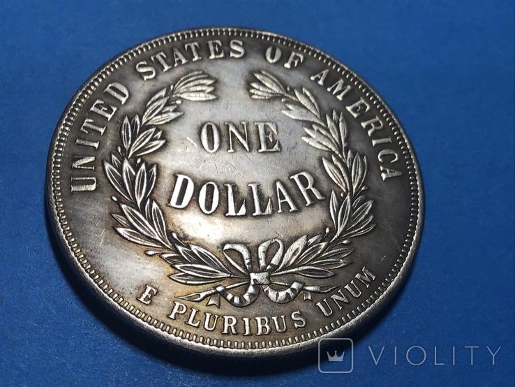 1 доллар сша 1876 г. Торговый доллар. Копия, фото №3
