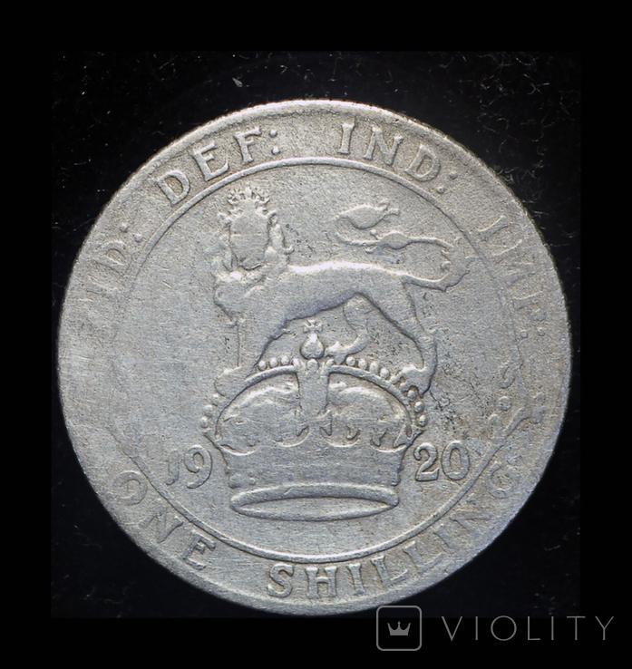 Великобритания шиллинг 1920 серебро, фото №3