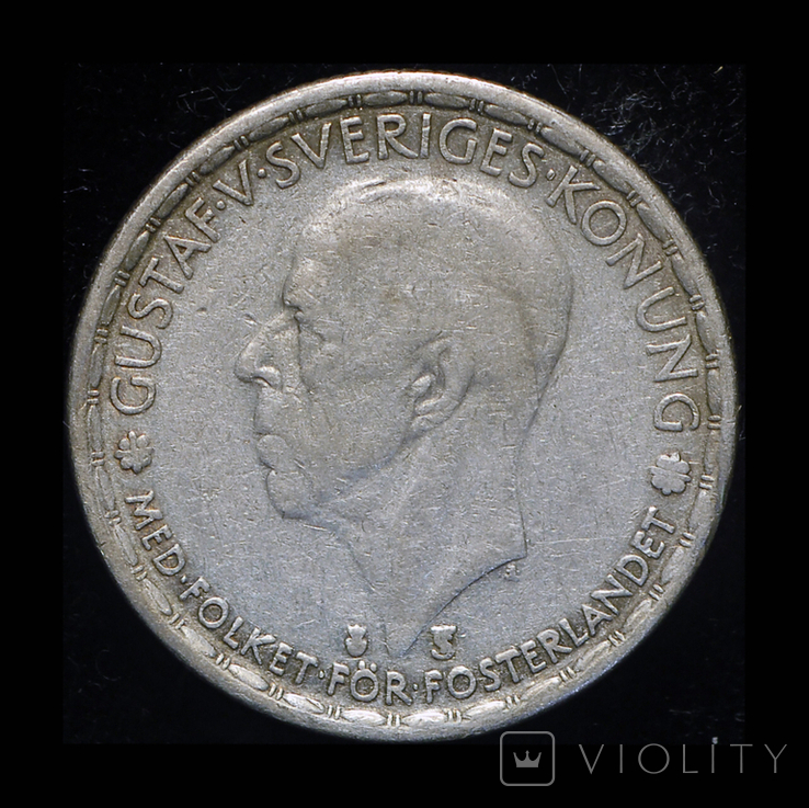 Швеция крона 1946 серебро, фото №3