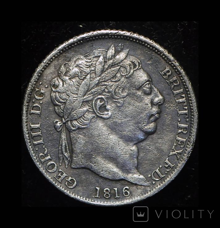 Великобритания 6 пенсов 1816 серебро, фото №3