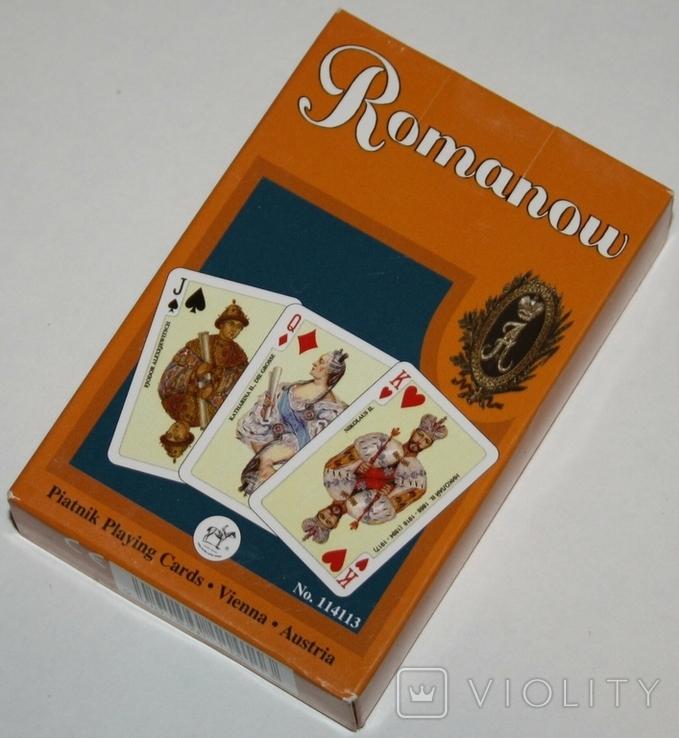 """Игральные карты """"Romanow"""" (полная колода,55 листов) Piatnik.,Австрия, фото №2"""