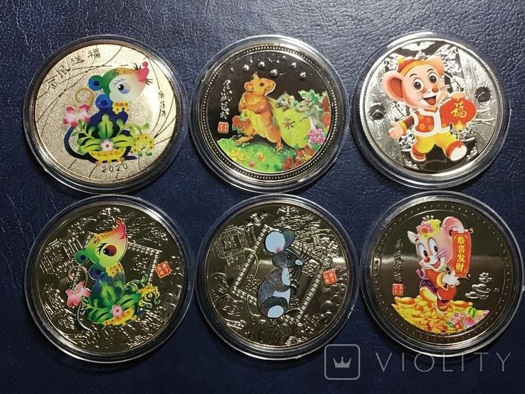 Монеты .Год крысы. Знаки зодиака 2020 г. Копии, фото №2