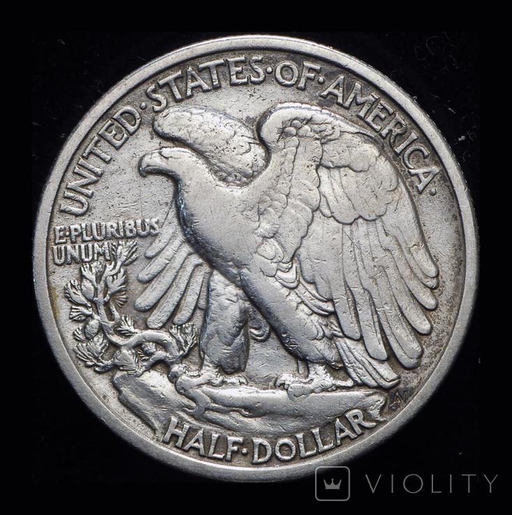 США 1/2 доллара 1935 серебро , фото №3