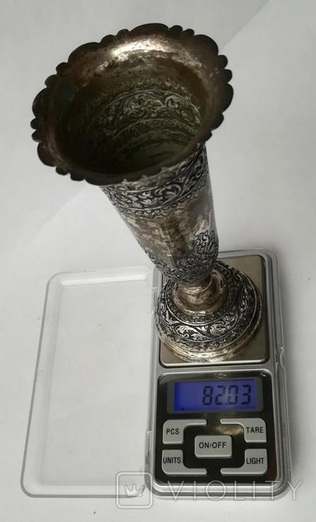 Серебряная иностранная вазочка 900 проба, фото №8