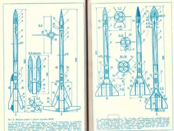 Модели ракет.Проектирование.Авт.И.Кротов.1979 г., фото №6