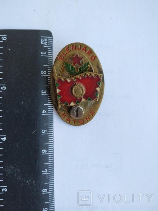 Знак Воина отличника 1 степени Венгерской народной армии Венгерская народная республика, фото №2