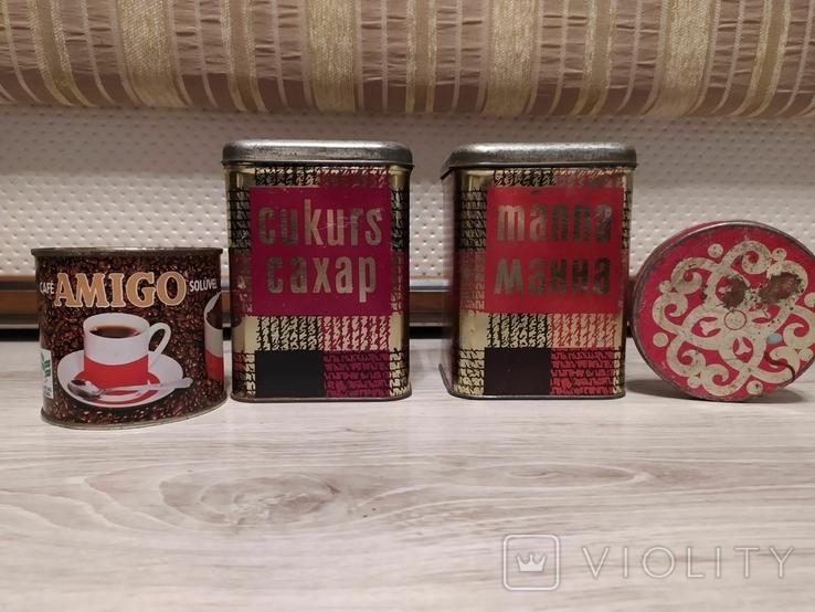Банки от чая , специй , конфет монпансье., фото №2