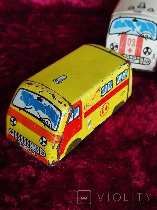Машинки жестяные СССР Скорая Милиция Аварийная Молния+заводная, фото №5