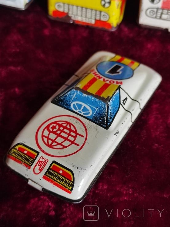 Машинки жестяные СССР Скорая Милиция Аварийная Молния+заводная, фото №6
