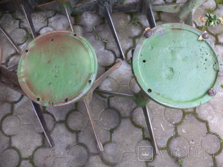 Стільчики виробничі чугунні 12 шт, фото №6