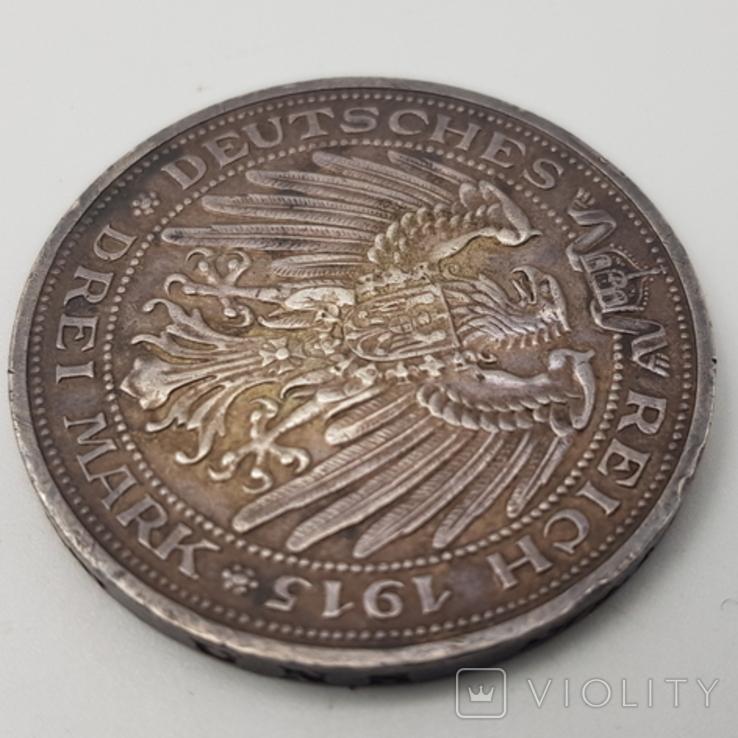 3 марки 1915 Мекленбург Шверин 100 лет династии, фото №7