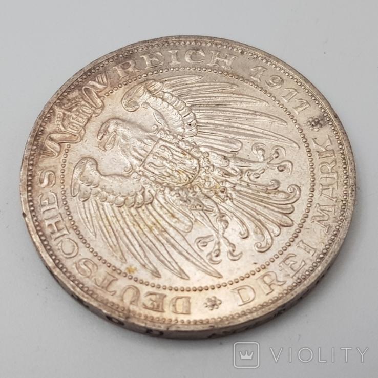 3 марки 1911 Университет Бреслау 100 лет, фото №4