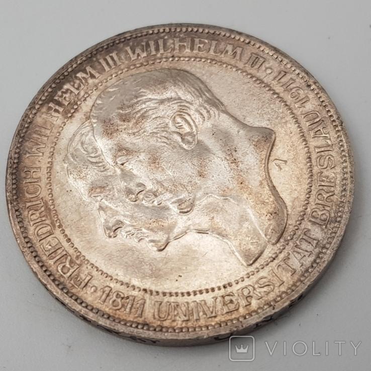 3 марки 1911 Университет Бреслау 100 лет, фото №7
