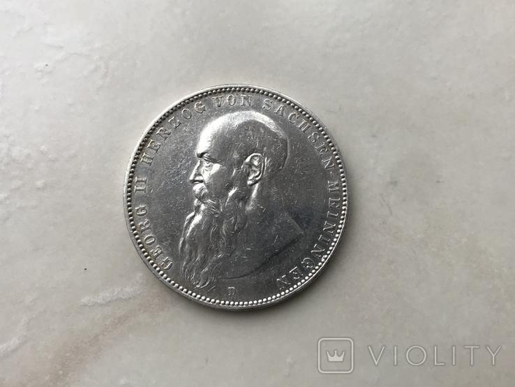 5-марок.Саксен Менінген -1908р., фото №2