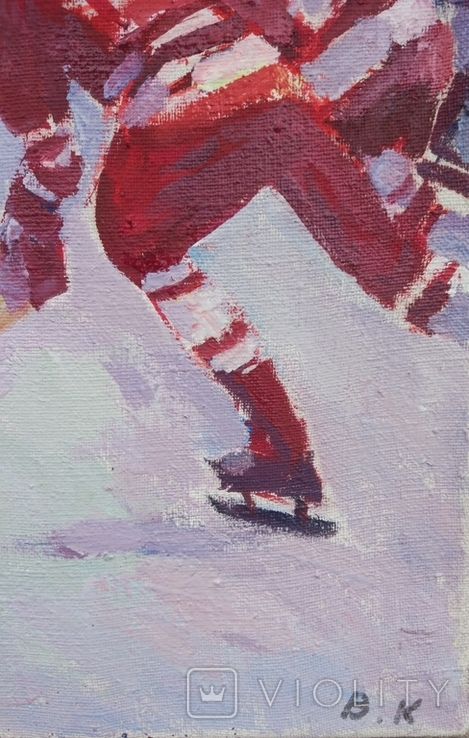 "В.Кнышевский""Секунда и гол"", х м.40*50см, 1980г, фото №3"