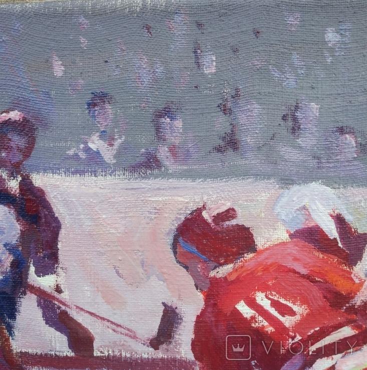 "В.Кнышевский""Секунда и гол"", х м.40*50см, 1980г, фото №5"