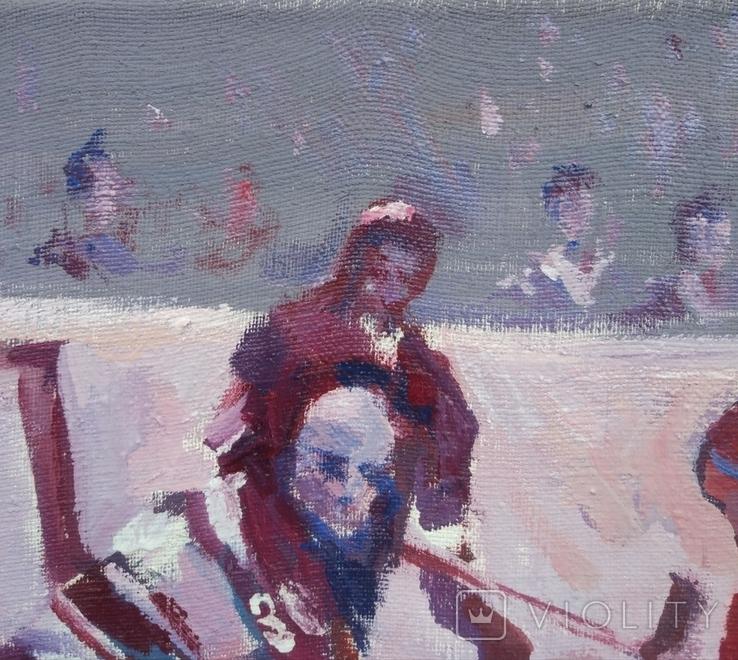 "В.Кнышевский""Секунда и гол"", х м.40*50см, 1980г, фото №7"