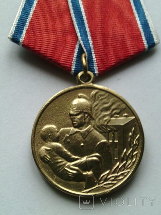 "Копия медали ""За отвагу на пожаре"", фото №3"