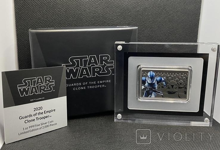 2 доллара. 2020. Звездные войны. Clone Trooper. II (серебро 999, 1oz), фото №2