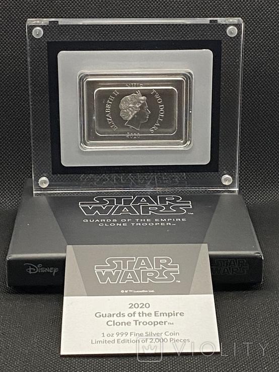 2 доллара. 2020. Звездные войны. Clone Trooper. II (серебро 999, 1oz), фото №8