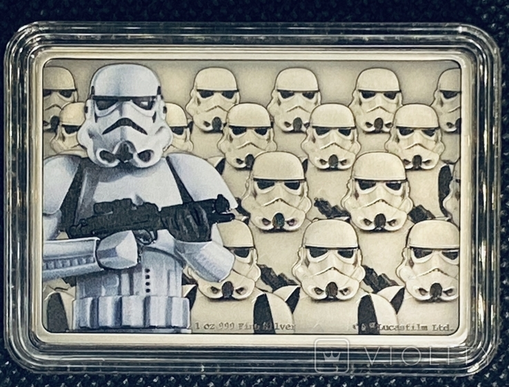 2 доллара. 2020. Звездные войны. Stormtrooper. I (серебро 999, 1oz), фото №6