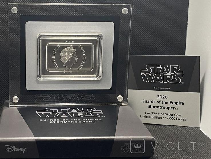 2 доллара. 2020. Звездные войны. Stormtrooper. I (серебро 999, 1oz), фото №8