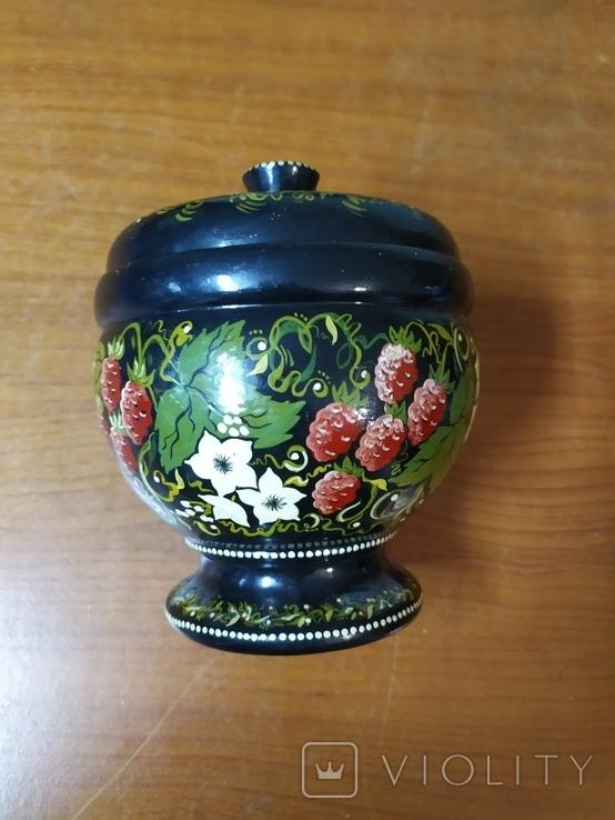 Расписнная кадушка для мёда, фото №4