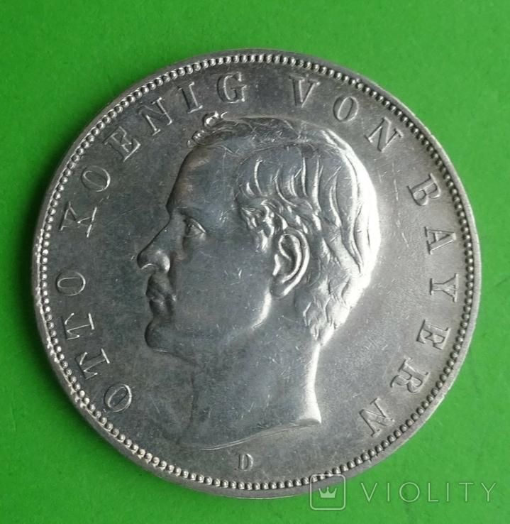3 марки, Бавария, 1913г, фото №2