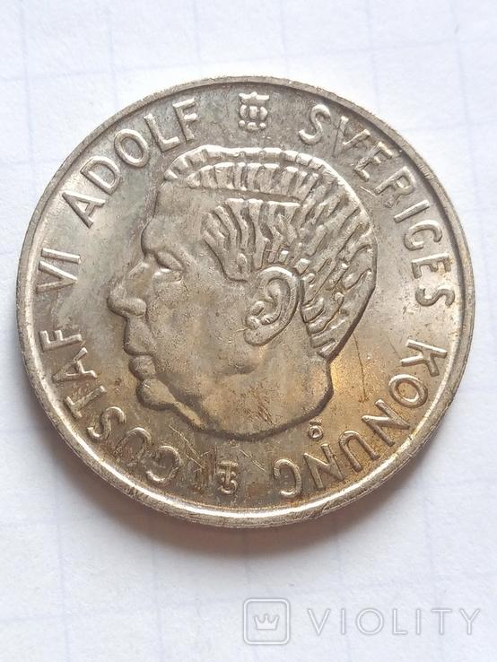 1 крона 1952 Швеція срібло, фото №5