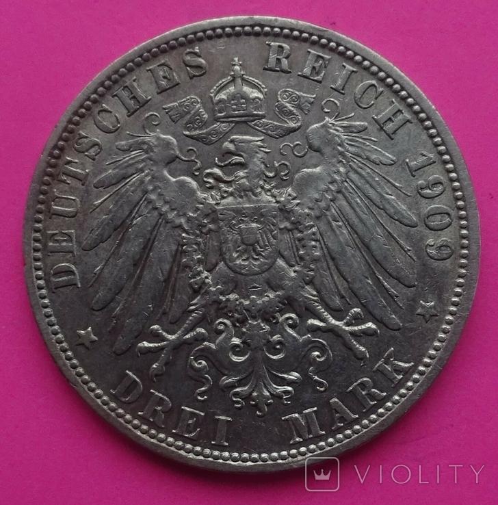 3 марки, Бавария, 1912г, фото №5
