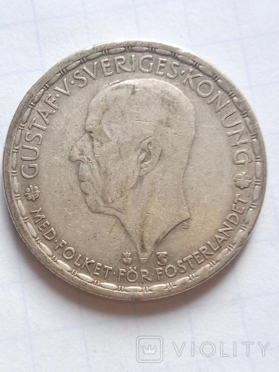 1 крона 1949 Швеція срібло, фото №5