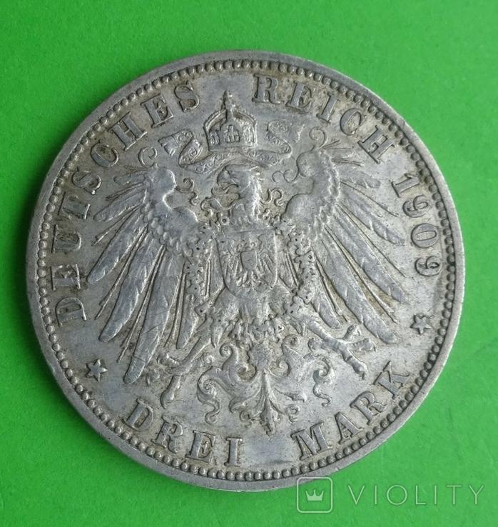 3 марки, Пруссия, 1909г, фото №5