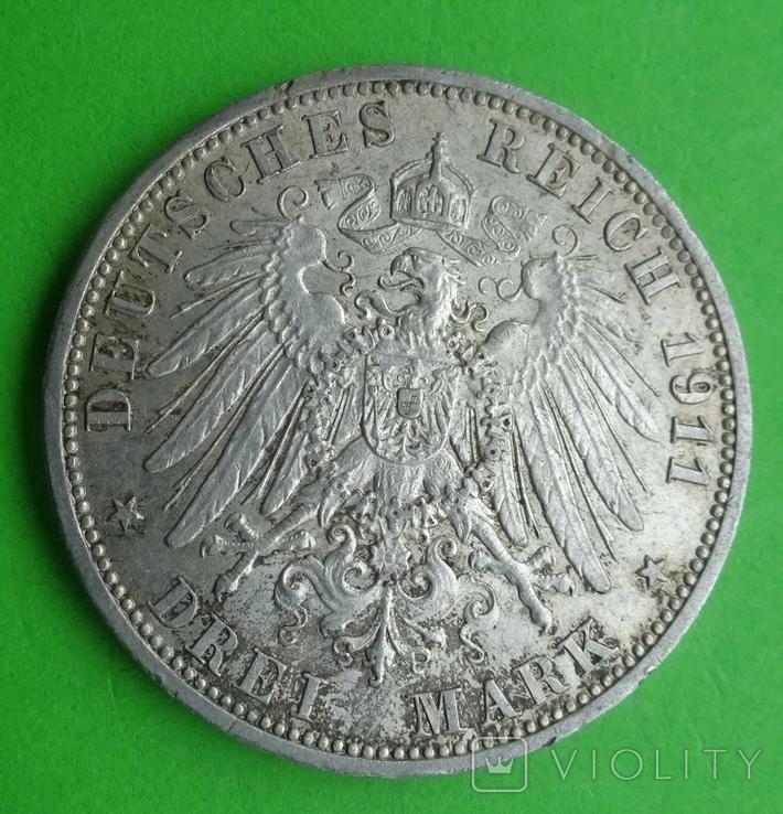 3 марки, Пруссия, 1911г, фото №5