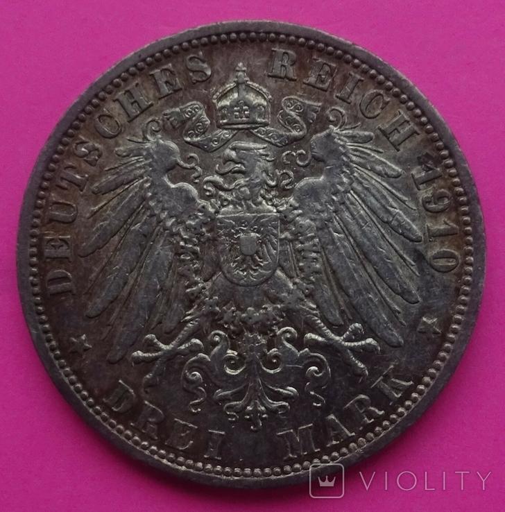 3 марки, Пруссия, 1910г, фото №5