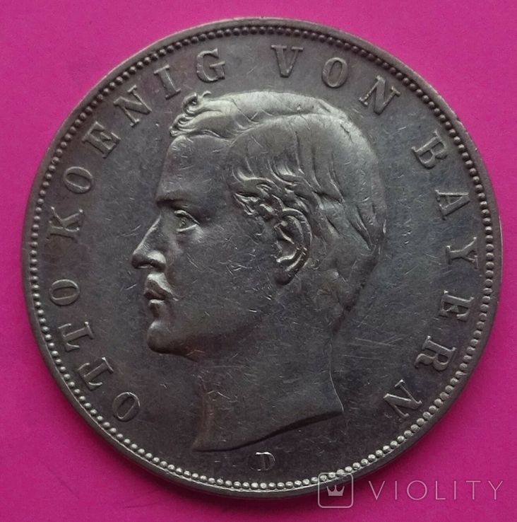 3 марки, Бавария, 1908г, фото №4