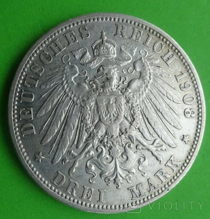 3 марки, Бавария, 1908г, фото №6