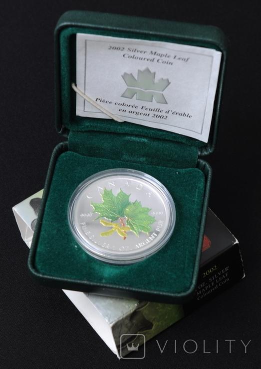 5 Долларов 2002 Зеленый Кленовый Лист 1oz, Канада Унция, фото №5