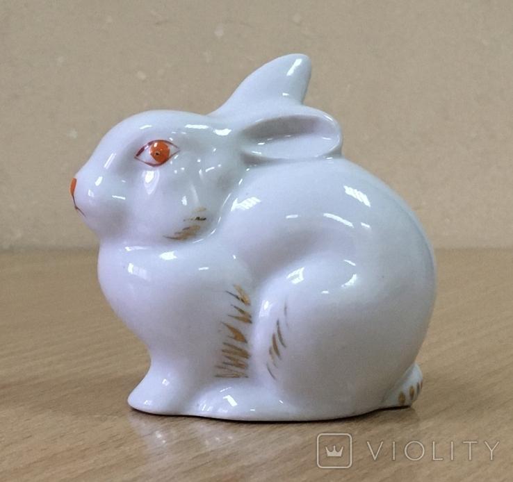 Статуэтка «Зайчик (Кролик)» / Полонное / Фарфор СССР /№1, фото №2