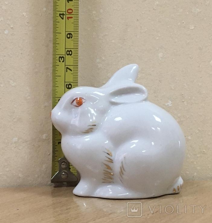 Статуэтка «Зайчик (Кролик)» / Полонное / Фарфор СССР /№1, фото №11
