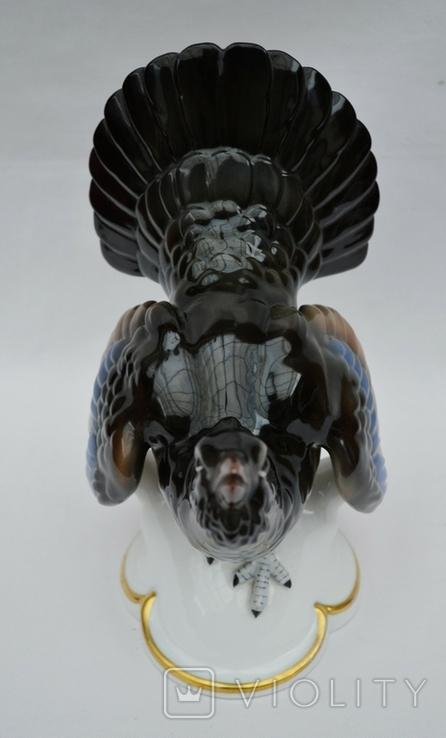 Фарфоровая статуэтка глухарь. Высота 24.5 см., фото №3