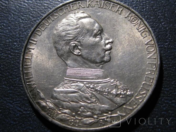 3 марки 1913 г .25 лет правления Вильгельм 2, фото №5
